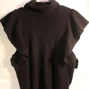 Sweater Top with Turtle Neck
